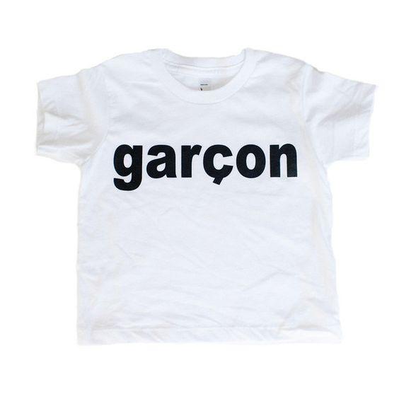 garcon // www.littlebossshop.com