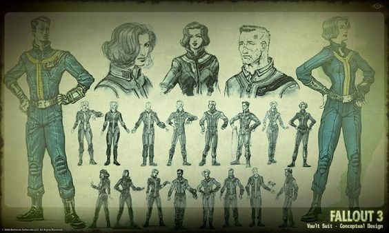 Sketchy goodness...fallout 3 sketches and development
