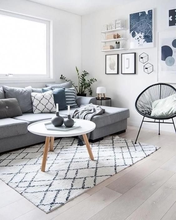 Scandinavian Style Room With Blue Pops Of Color Scandinavian Design Li With Images Scandinavian Design Living Room Living Room Scandinavian Interior Design Living Room