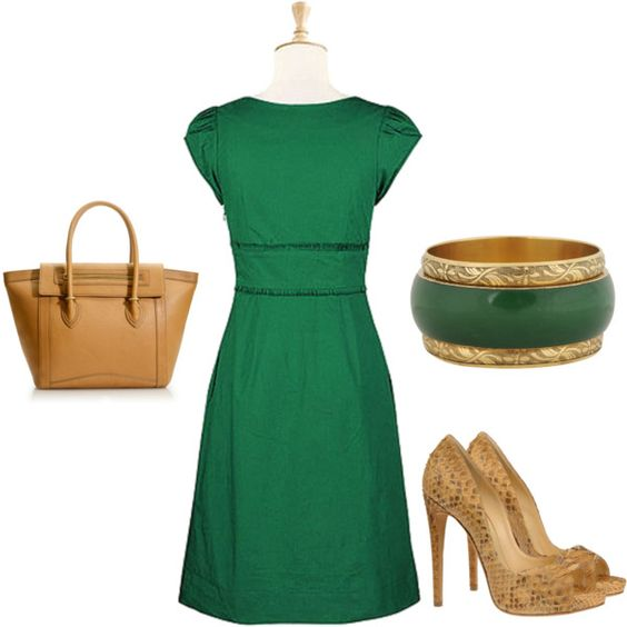 Love the green and khaki