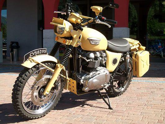 Triumph Scrambler - British Army version from Classic Farm Motorcycles