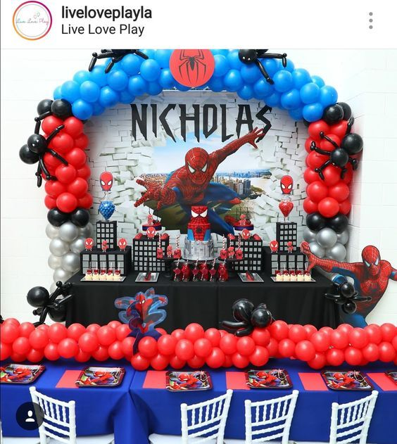 Ideas To Decorate A Spider Man Themed Party En 2020 Fiesta De