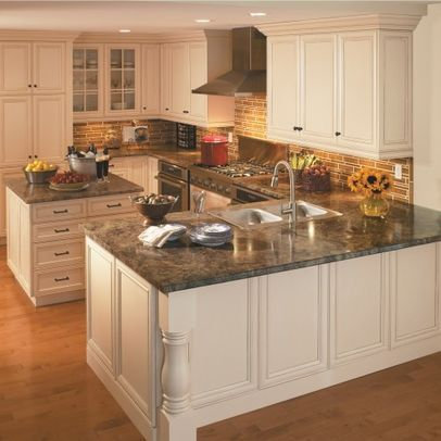 L shaped kitchen layouts design pictures remodel decor for L shaped kitchen with island layout