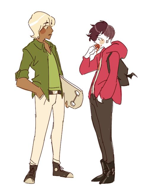 Character Design Challenge Vampire : Skater teen and his punk vampire boyfriend 人物設定