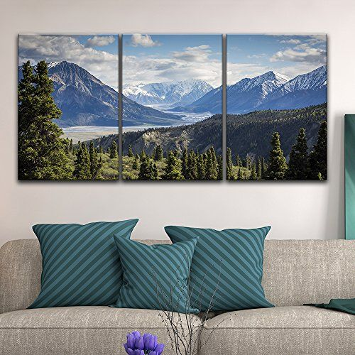 3 Panel Snow Covered Mountains And The Forest Home Art X 3 Panels Canvas Art Wall Decor Fall Canvas Art Wall Art Pictures