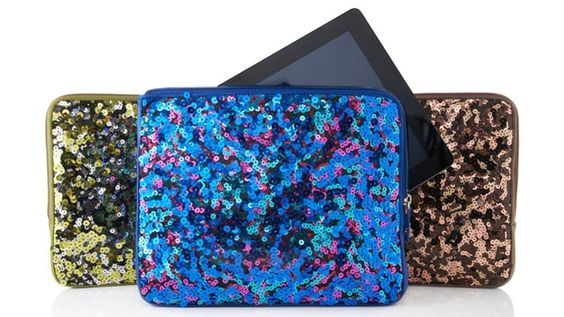 Sequin iPad Case    Who says geeks can't be chic?