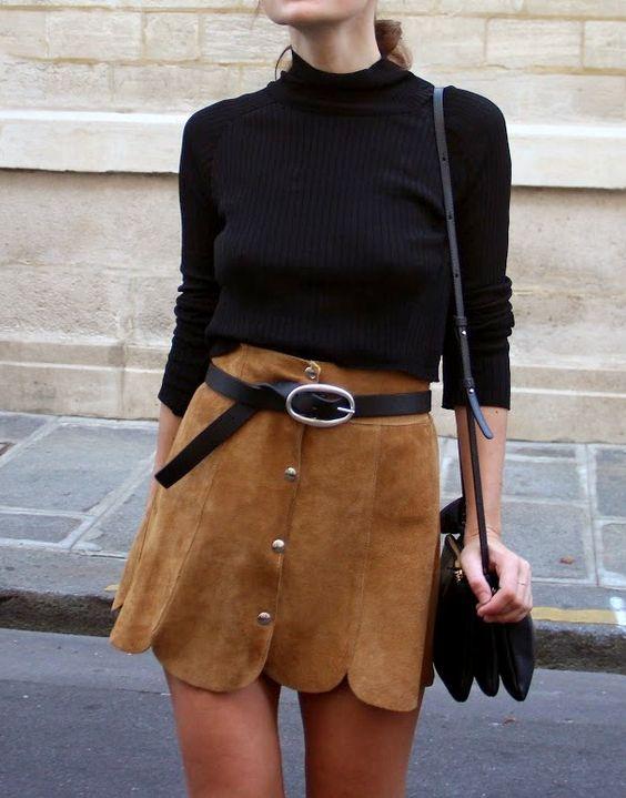 Mini jupe, Daim, Sacs... - Tendances de Mode