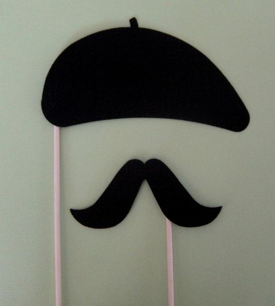 Photo booth props photo booths and berets on pinterest