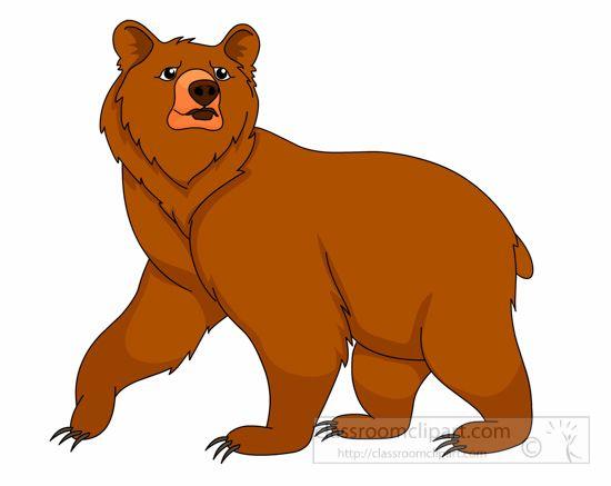 brown-grizzly-bear-clipart-1161.jpg | bear clipart, cartoon clip art,  animal drawings  pinterest