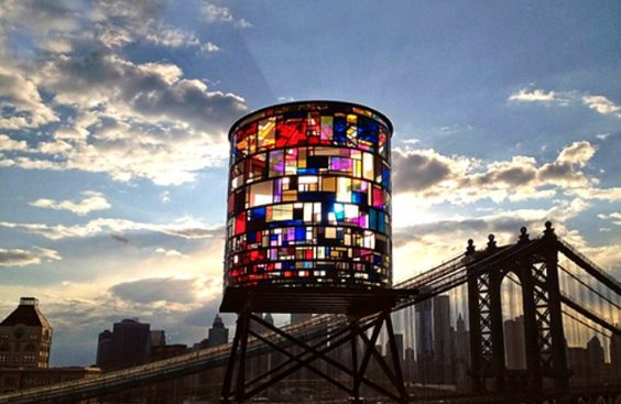 Tom Fruin - water tower