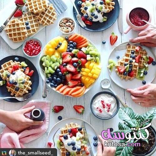 افكار لعزومة فطور صباحي Healthy Waffles Healthy Lunch Food