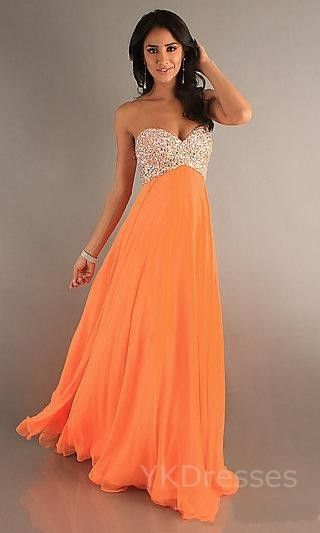 Sunset Orange Prom Dress | Fashion | Pinterest | Prom dresses ...