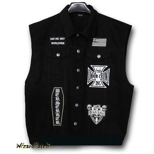 Black Label Society Vest In 2020 Black Label Society Black Leather Vest Black Label