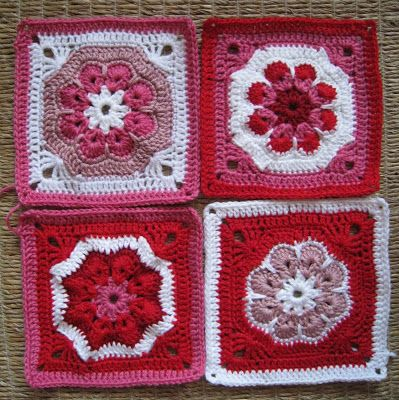 Sammy's Stitches.  a way to make the african flower into a square