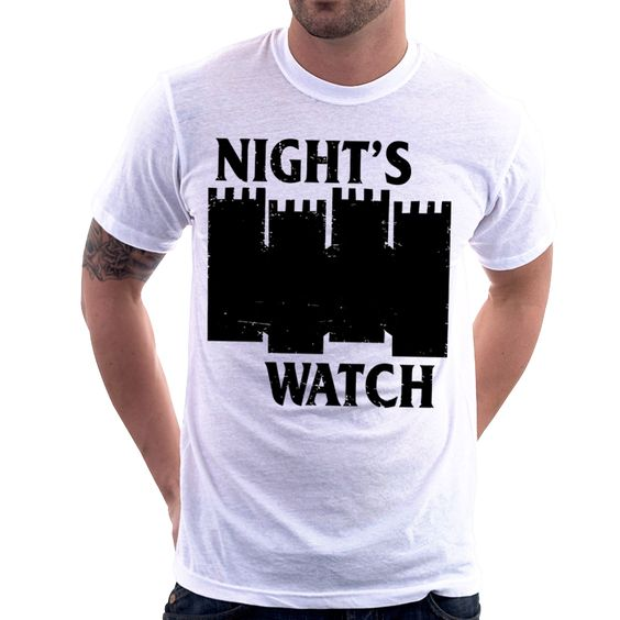 Camiseta Camisa Game Of Thrones Black Flag Night Watch