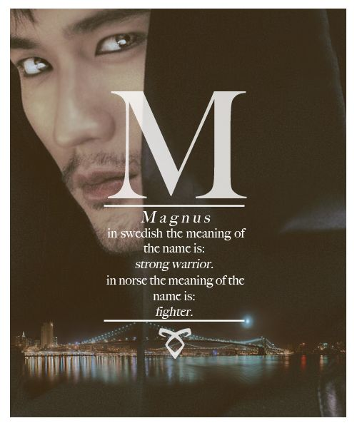 The Mortal Instruments: City of Bones: name meanings: MAGNUS!