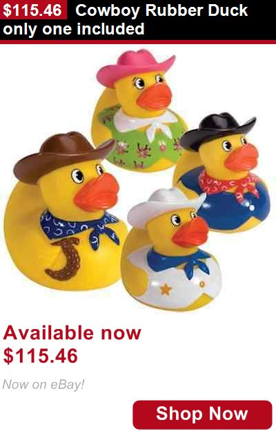 Baby Bathing Accessories: Cowboy Rubber Duck Only One Included BUY IT NOW ONLY: $115.46