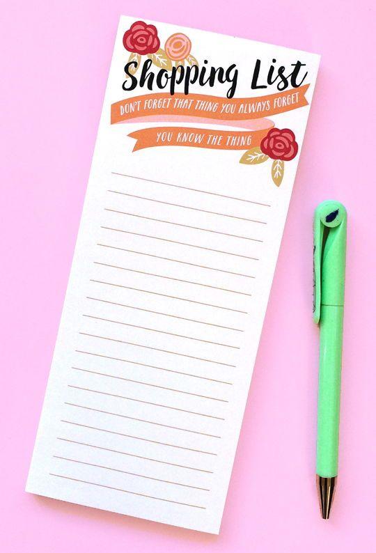 Desk Pad List Pad Shopping List Market List Notepad Memo Pad List Notepad Grocery List Skinny Notepad To Do List