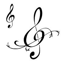 Fresh Tattoo Design Collections: Treble Clef Tattoos Designs