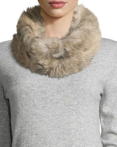 Ugg+Toscana+Fur+Snood+W+Knit+Lining+Natural+|+Scarf+and+Accessory