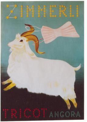 Original Vintage Poster Zimmerli Tricot Angora Sheep 39 | eBay