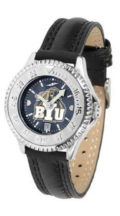Brigham Young Cougars BYU NCAA Womens Leather Wrist Watch by SunTime. $79.95. Showcase the hottest design in watches today! A functional rotating bezel is color-coordinated to compliment your favorite team logo. A durable long-lasting combination nylon/leather strap together with a date calendar round out this best-selling timepiece.. Save 21%!