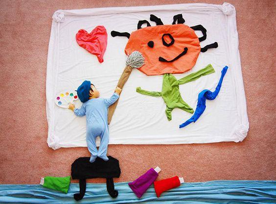 foto criativa de bebê - 3: