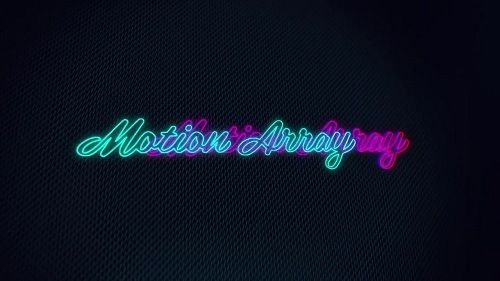neon glowing logo 56941 after effects templates free download httpifttt