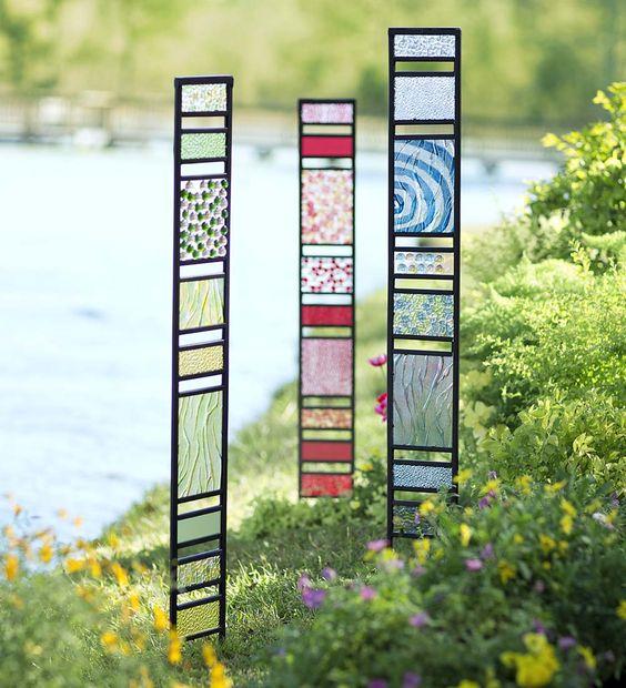 Framed Glass Garden Panels Decorative Garden Accents gardening