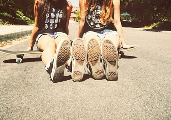 This looks like me and someone last year we were on her brothers skate bored and converse but we didn't take pictures