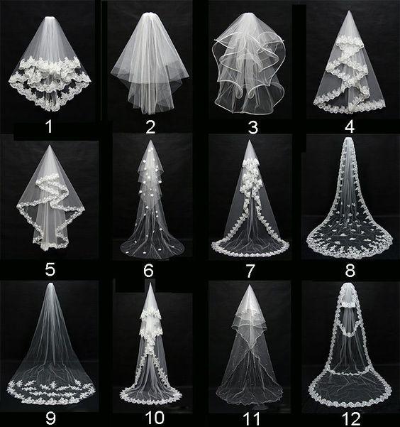 New White/Ivory Wedding Bridal Veil Elbow Length Satin Edge With Comb
