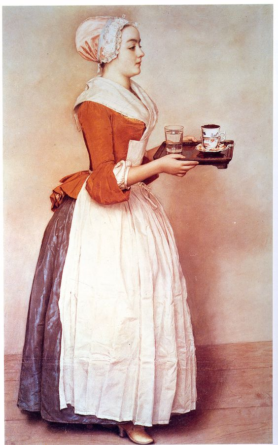 The Chocolate Pot - Pastels - Jean-Etienne Liotard - c. 1745: