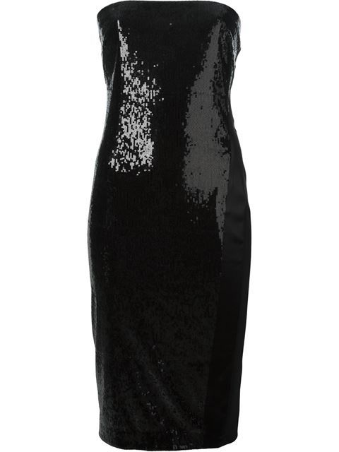 Shop Donna Karan strapless sequinned dress in Il Bacio Di Stile from the world's best independent boutiques at farfetch.com. Over 1500 brands from 300 boutiques in one website.