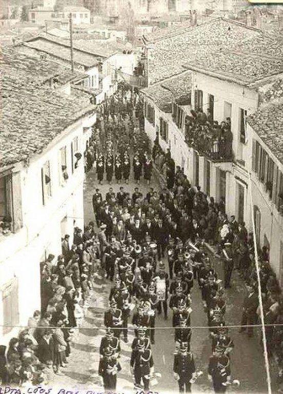 Λιτανεία Αγίας Θεοδώρας στην οδο Β.Πυρρου 1950