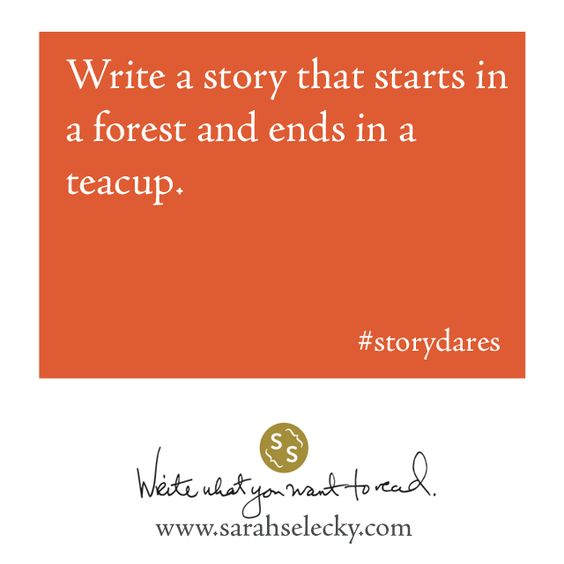 write a story that starts in a forest and ends in a teacup