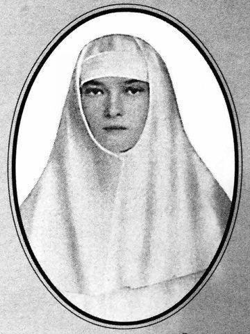 Tatiana Nikolaevna in her nursing uniform
