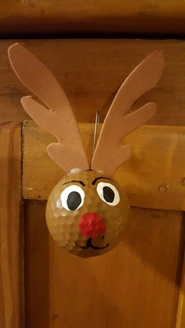 Reindeer Golf Ball Ornament