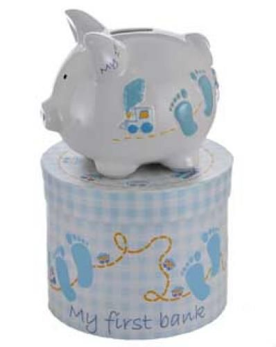 Mini Baby Boy Piggy Bank - http://www.247babygifts.net/mini-baby-boy-piggy-bank-2/