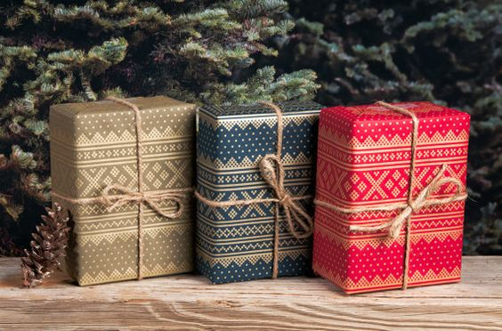 Winter Sweater BlueRedGreen / Wrapping Paper / by NormansPrintery