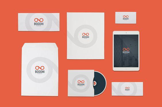 Projeto de identidade visual desenvolvido para a empresa Boddhi.