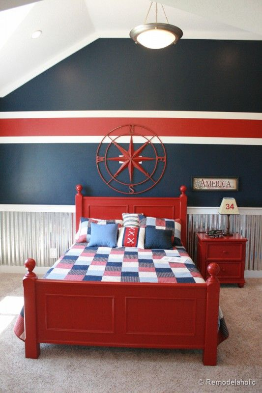 45 Ways to Add Character and Personality to a Boy's Bedroom | Idea paint, Wall  paintings and Paint ideas
