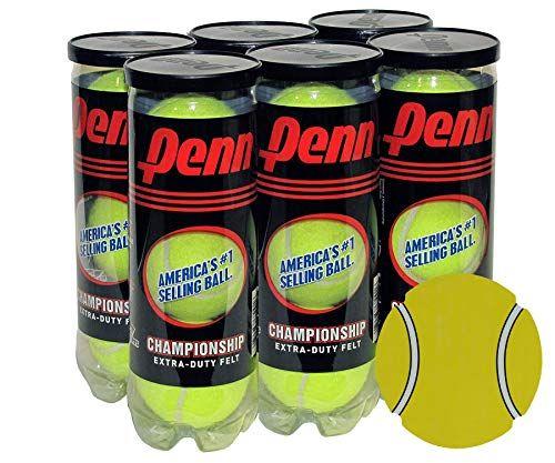 Yellow N//A Penn Natural Rubber Championship Extra Duty Tennis Ball Case 12 cans, 36 Balls