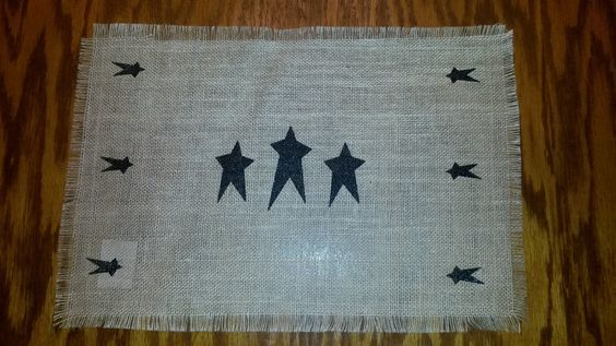 Burlap Star Placemat/Table Mat