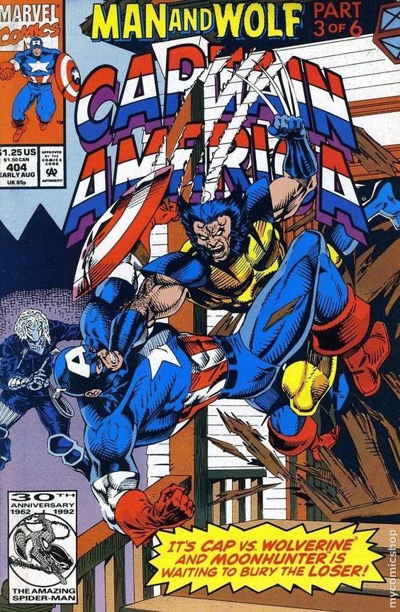 Captain America #404 Cover art by Rik Levins and Danny Bulanadi