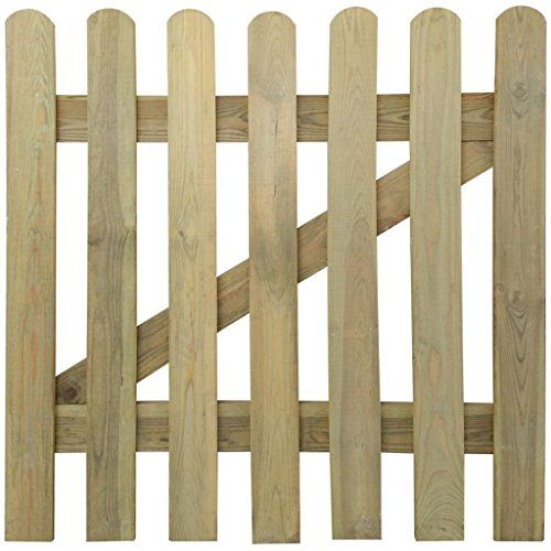 Vidaxl Portillon Bois De Pin Impregne 100x100 Cm Barriere Cloture