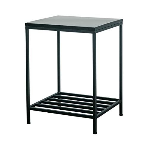 Myaouyl Iron Small Coffee Table Nordic Living Room Solid Wood
