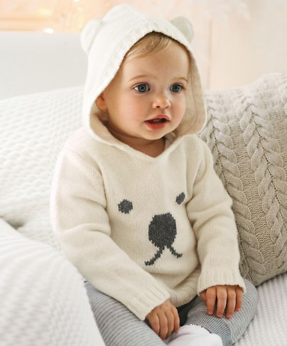 Knitting Pattern Bear Hoodie : Polar Bear Hoodie Style : Kids Pinterest Baby polar ...