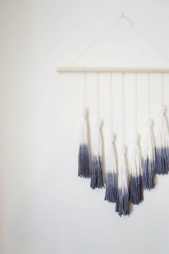 Ombre Tassel Wall Hanging Finished: