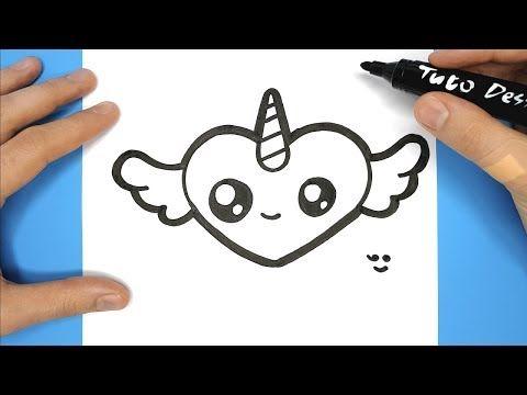 Coeur Licorne Aile A Reproduire Dessiner Et Colorier Simplement Youtube Licorne A Colorier Coloriage Licorne A Imprimer Dessin Licorne Facile