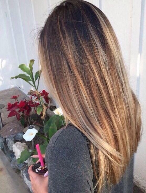 Balayage straight hair #gorgeoushair